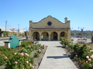 Petaluma station on the future SMART line.