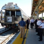 Amtrak business car 100001 and CEO Boardman at the Sacramento train station  5-13-2013