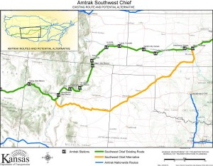 Amtrak SW Chief map - Kansas DOT