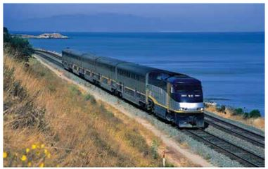 Capitol Corridor train near Martinez CA.  Will the JPA seek alternatives to Amtrak? Copyright Dr. Stefan Petersen