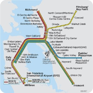 BART's System Map