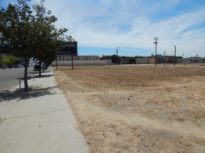 View of the already vacant land by G Street next to the future High Spreed Station in Fresno