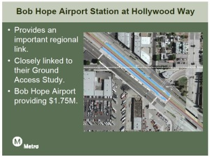 LA Metro graphic on the planned 2nd train station at Bob Hope.
