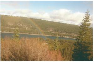 Donner pass with rainbow 11-2014