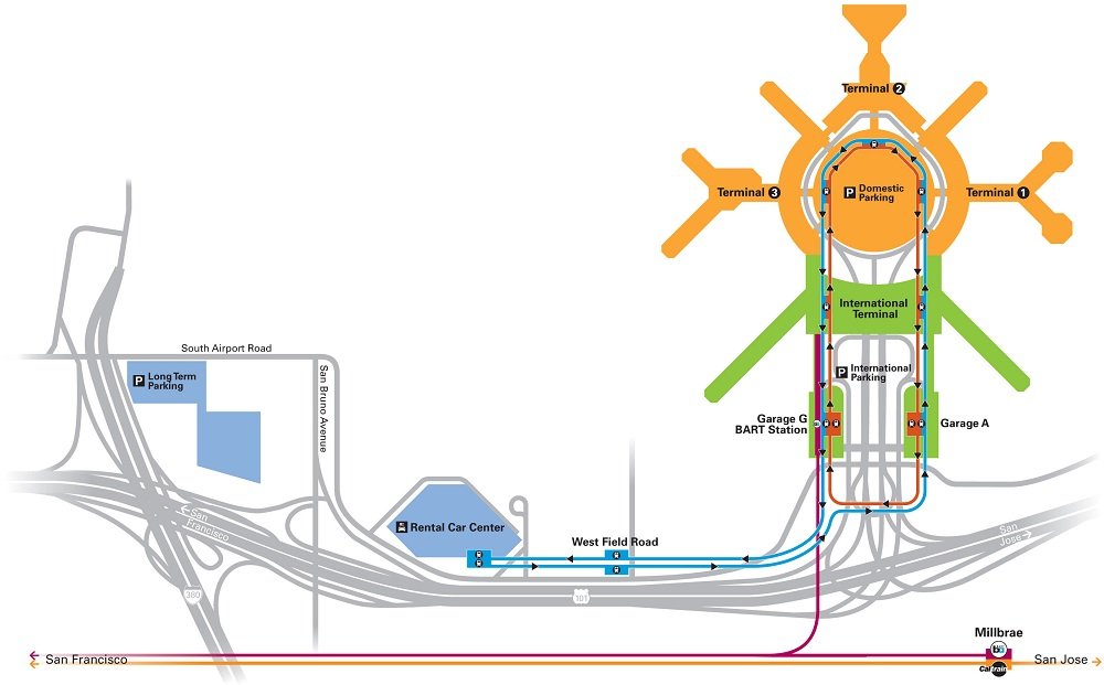 Rail Connections To Californias Major Airports RailPAC - Airports in california