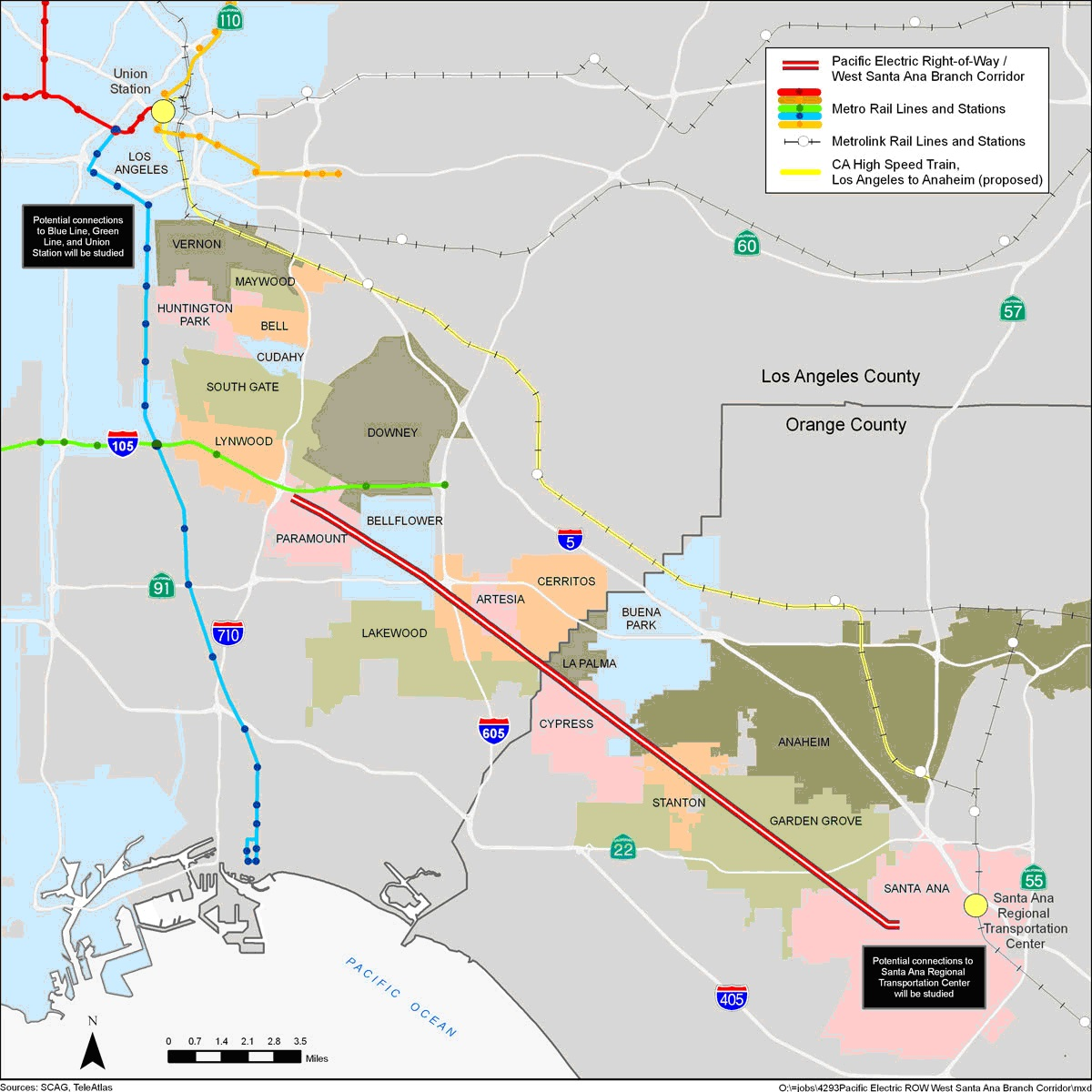 Whats Next For Los Angeles Rail Transit  RailPAC - Los angeles map westwood